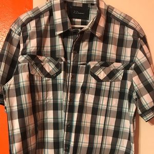 7 Diamonds Men's Short Sleeve Snap